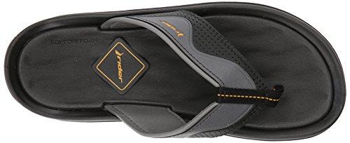 Rider Mens Dunas Evolution II Thong Flip-Flop Black/Grey v48LTr1yOI