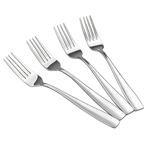 HOMMP 16-Piece Stainless Steel Dinner Forks, 8.27-INCH ()