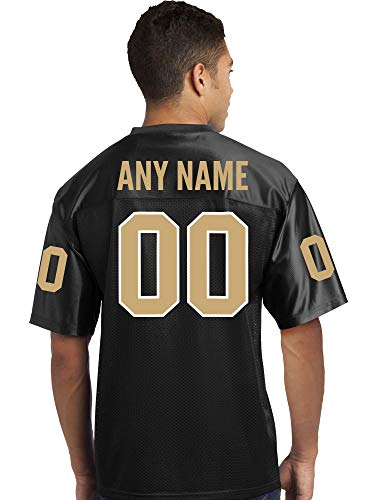 (Custom Football Replica Team Jersey (Black, Youth XS))