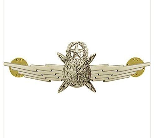 Vanguard AIR Force Badge: Master Cyberspace Operator: Regulation Size - Mirror