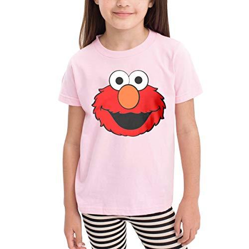 (Muppet Elmo Face Kids Fashion T-Shirt Pink Tees)