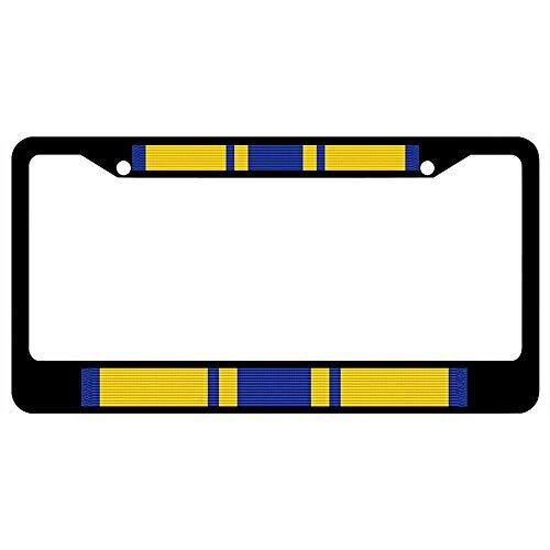 - URCustomPro Air Force Commendation Medal Ribbon Military License Plate Frame for Women/Men, Stainless Steel Car Tag Frame, US License Plate Frame, Black License Tag Holder