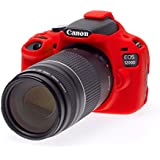 Roy Imaging COMBO for Canon 1200D camera silicon protective case Red with Free 9 pcs cleaning kit