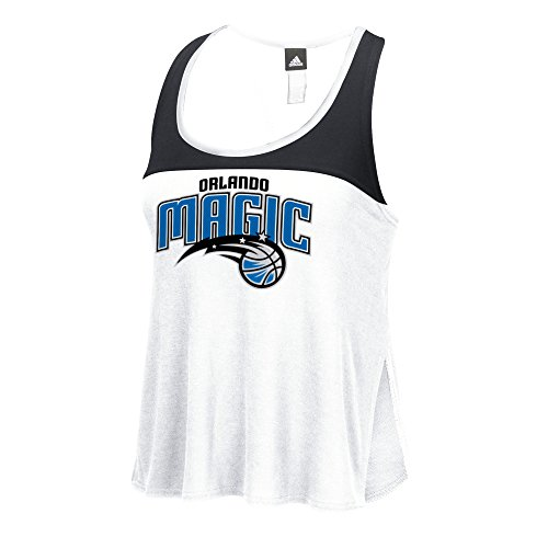 NBA Orlando Magic Women's Color Block Tank Top, Medium, White
