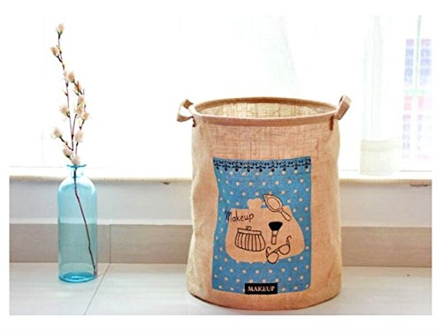 Gelaiken Lightweight Cylinder Storage Box Laundry Basket Cotton and Linen Storage Box (Light Brown) by Gelaiken