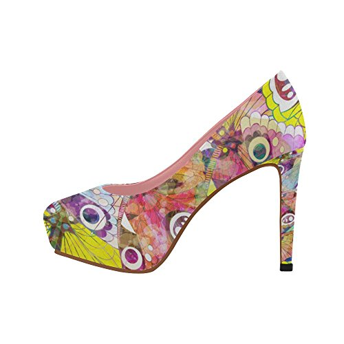 Cute High Color8 Prin Owl Shoes On Butterfly Aztec Womens Heel InterestPrint Colorful Floral Pattern Wedge Pumps FYqYZ5