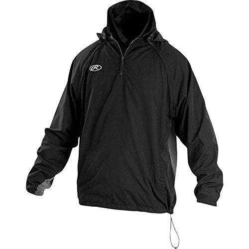 - Rawlings Sporting Goods Mens Adult Jacket W Removable Sleeves & Hood, Black, 2X