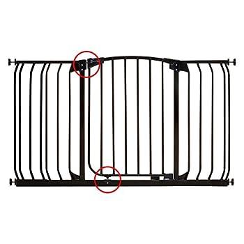 Dream Baby Tall Hallway Swinging Gate Combo Pack - (38'' - 53'') Black
