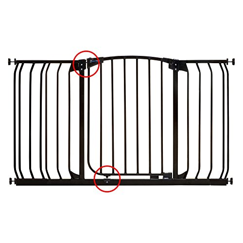 Dream Baby Tall Hallway Swinging Gate Combo Pack - (38'' - 53'') Black