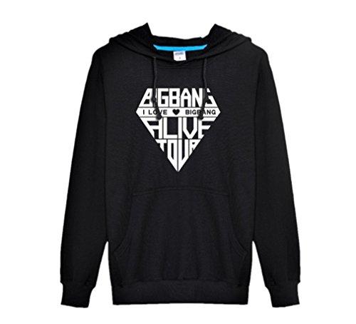 AQ Mens Fashion Clothing Winter Big Bang KPOP Hoodie Jacket
