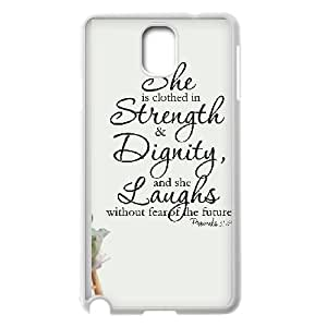 Samsung Galaxy Note 3 Cell Phone Case White strength and dignity 006 UN7155696