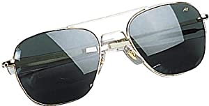 AO Original Pilot Sunglasses, Gold, Bayonet, HC Amber Poly Lens, 52mm, Polarized PHCAP-BNT-52