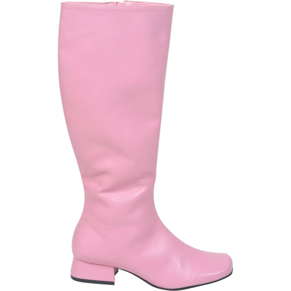 Adult's Long Pink Go Go Boots (Size: Medium 7-8)
