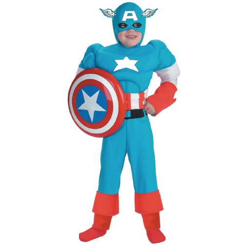 [Captain America Classic Muscle Costume - Medium] (Captain America Boys Costumes)