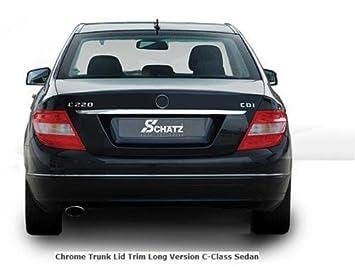 Mercedes W204 C Clase Cromado tronco tapa borde largo: Amazon.es: Coche y moto