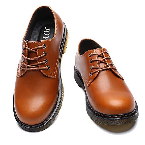 [JOYWAY] マーチンシューズ メンズ エンジニアシューズ 3E 本革 BOOTS ワークブーツ定番 ショートブーツ ブラック ブラウン イエロー (28.0cm  イエロー)