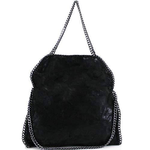a tracolla pelle Fashion h sintetica donna Ltd nera in Borsa per A TnIfaqxSx