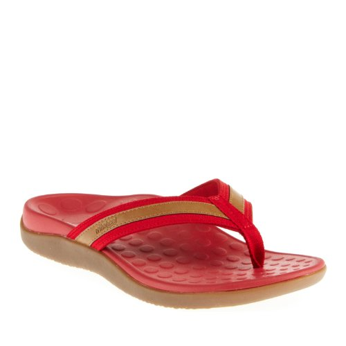 Vionic Women's with Orthaheel Red & Tan Tide Sandals UK 7/EU40/US 9 gLEjYhF0VY