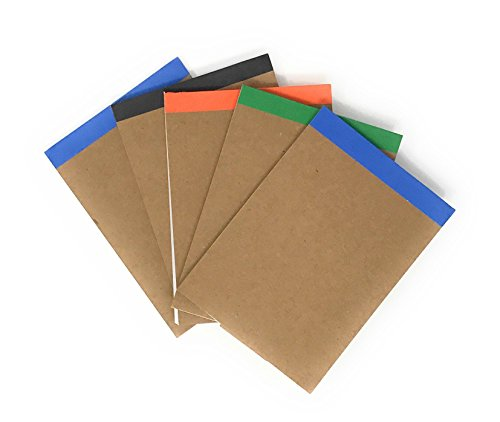 20 Bulk Fold Over Notepad Assortment - Made From 80% Post Consumer Recycled Paper … (Bulk Scratch Pads)