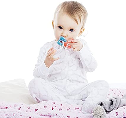 Joovy Silinoogie Pacifiers, Night Glow
