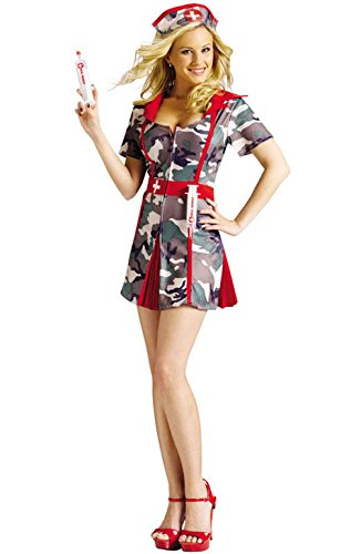Mememall Fashion Sexy Happy Hour SMASH Nurse Doctor Adult Halloween Costume (Sexy Zombie Nurse Costume)
