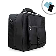 Playstation 3 / PS3 / PS4 Travel Safe Carrying Case with Padded Cable Pouch , Adjustable Shoulder Strap , and Accessory Pockets - Works for Playstation 3 Slim and Playstation 3 Super Slim , Also Works for Playstation 4! *Includes Bonus Accessory Bag and Microfiber Cloth
