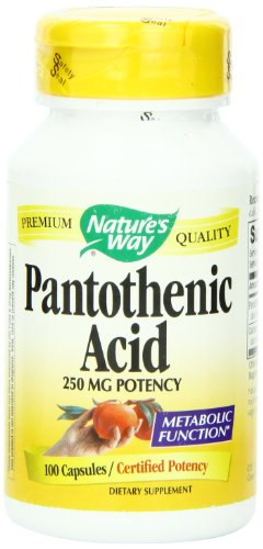 Nature's Way Pantothenic Acid 250 mg 100 caps