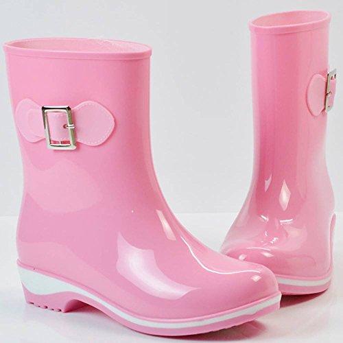 1 Popoye Wellington de Rose Femme Chaussures 5 Pink Travail 36 nBg0wBqW1