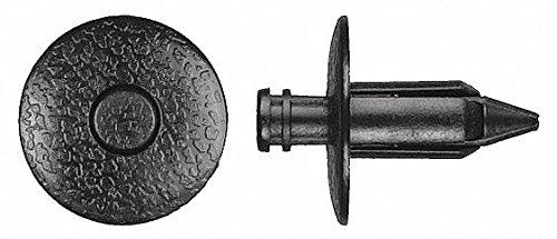 Expanding Push In Rivet, Nylon, 7mm Dia, 16mm L, 7mm, Black