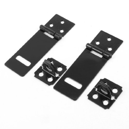 Metal Door Hasp (uxcell Replacement Padlock Door Cabinet Black 3.7