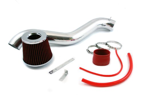 Velocity Concepts Red Short Ram Air Intake Kit + Filter 92-96 For Honda Prelude 94-97 Honda Accord 2.2L,2.3L ()