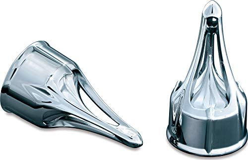 Kuryakyn 1225 Motorcycle Accent Accessory: Front End Roman Axle Caps for 1980-2019 Harley-Davidson Motorcycles, Chrome, 1 -