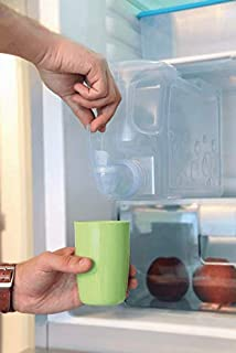 dispensador de agua fría para Nevera. Garrafa con Capacidad 4,2 litros. Botella de plástico PETG Reutilizable con Grifo de fácil Uso. Fuente para Agua, Bebidas, cócteles Playas, Camping, oficinas.: Amazon.es: Hogar
