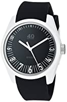 40Nine Men's 'Eclectic' Quartz Plastic and Silicone Casual Watch, Color:Black (Model: 40N3.6)