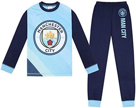 Manchester City FC - Pijama Largo Serigrafiado para niño - Producto Oficial: Amazon.es: Ropa y accesorios