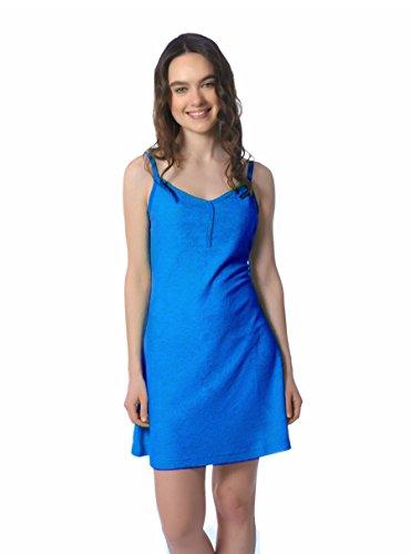 Womens Tank Dress Turkish Terry Cotton -Modal 3 Button Front Beach Dress (XL, ()