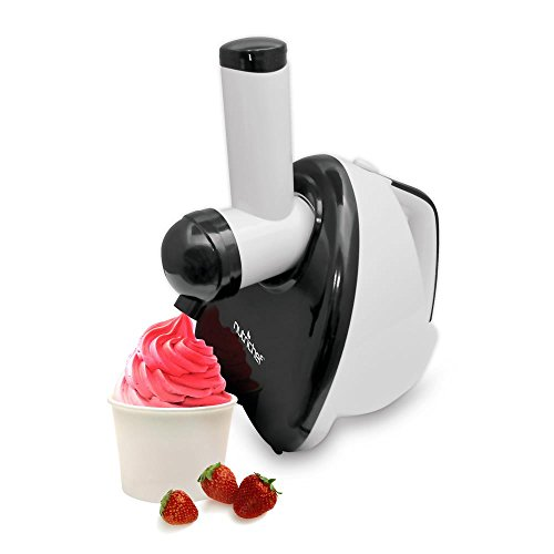 NutriChef Upgraded 2-in-1 Dessert Maker Fruit Blender, Soft Serve, Healthy Snacks, Great For Frozen Yogurt, Ice Cream, Sorbet, Smoothie, Salads - PKELS80 (Soft Serve Ice Cream Maker For Home)