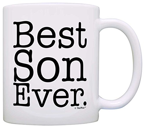 Gift for Son Best Son Ever Fun Birthday Gift Christmas Gift Coffee...