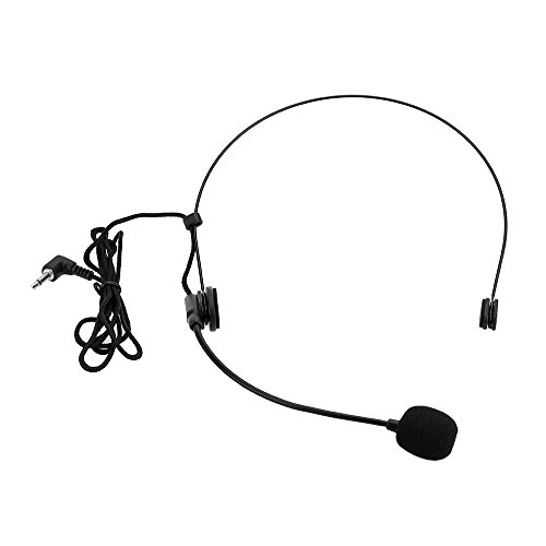 Andoer Uni-Directional Head-mounted Headworn Headset Microphone Mic Flexible Wired Boom for Voice Amplifier Amp Loudspeaker