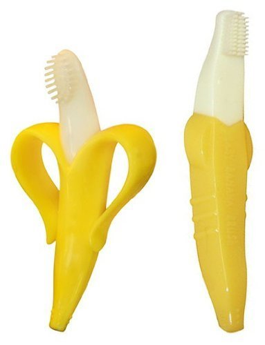 : Baby Banana Bendable Infant Teething Toothbrush & Baby Banana Bendable Toddler Training Toothbrush