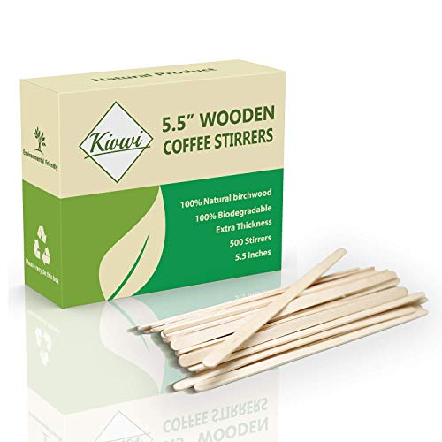 Coffee Stirrers Sticks, Natural Birch Wood 500 Count,