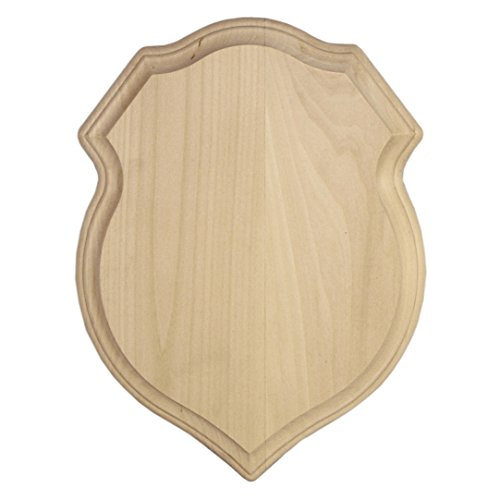 "Walnut Hollow Basswood Shield Plaque, 9"" x 12"""