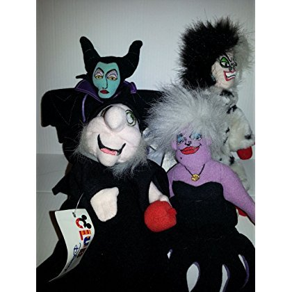 Disney Villainess Set of 4 - Ursula, Evil Queen (from Snow White) Cruella deVille, and Maleficent (Queen From Snow White)