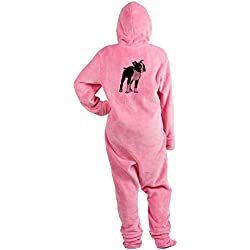 CafePress - Boston Terrier - Novelty Footed Pajamas, Funny Adult One-Piece PJ Sleepwear