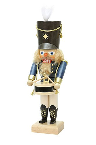 German Christmas Nutcracker Drummer Blue - 28,5cm / 11 inch - Christian Ulbricht