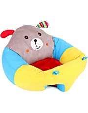 Rtway11 Baby Seats Sofa,Cartoon Plush Soft Animal Shaped Infant Support Seat Portable Baby Armchair Learning to Sit Chair for 3-10 Months
