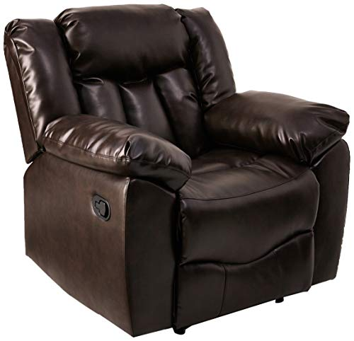 NHI Express 71006-91 James Bonded Leather Recliner, Brown,
