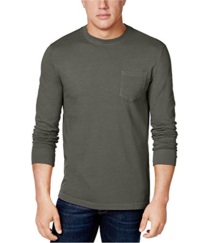 Club Room Mens Garment-Dyed Basic T-Shirt, Grey, Large from Club Room