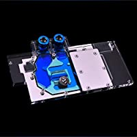Bykski Full-Cover GPU Block for Graphic Card Video Card VGA Sapphire RX 580 8G D5 RX580 8G D5 OC RX580 4G D5 OC + LED Lights + Remote Control + Fittings