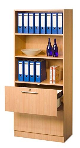 Aktenschrank hängeregister abschließbar  Bümö® Office Hängeregistratur-Regal Schrank abschließbar aus Holz ...